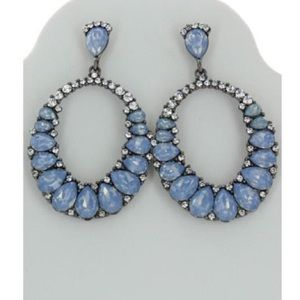 Gorgeous periwinkle blue statement earrings